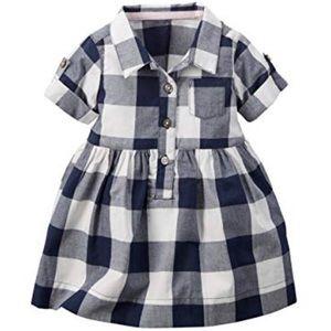 Carters Navy Buffalo Check Dress